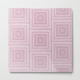 Dusty Rose Drawing Therapy Metal Print