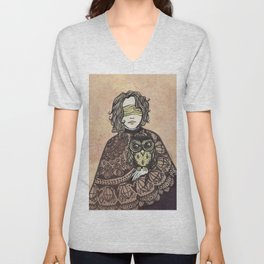 The Seer and the Owl Unisex V-Neck