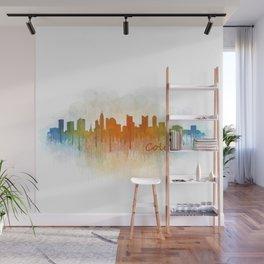 Columbus Ohio, City Skyline, watercolor  Cityscape Hq v3 Wall Mural