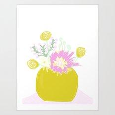 Vase & Flowers Art Print
