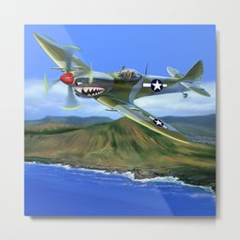 Spitfire Soars Over Hawaii Metal Print