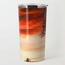 Serenity Prayer Sunset Red Clouds Travel Mug