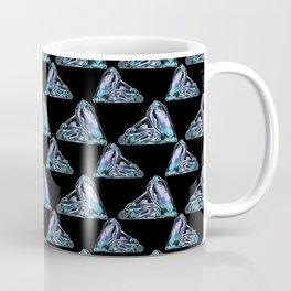 Rainbow Fluorite Crystals Watercolor Coffee Mug