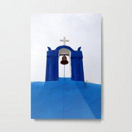 Bell tower - Santorini Metal Print