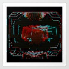 Neon Bible Glitch Art Print