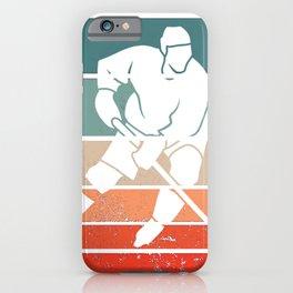for Hockey Player Ice Vintage Goalie Hockey iPhone Case