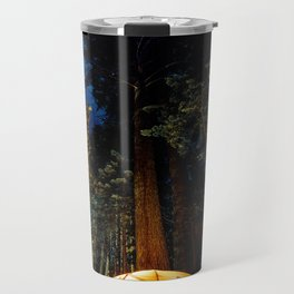Camping At Night Travel Mug