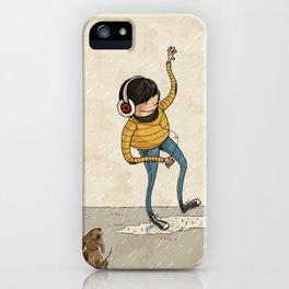 Hipster & Pet iPhone Case