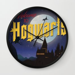 Welcome to Hogwarts Wall Clock