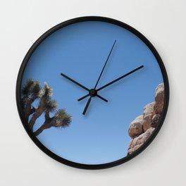 Joshua Tree Rock Formation Wall Clock