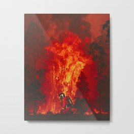 Firefighter Hero Metal Print