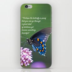 Beautiful Butterfly Quote iPhone & iPod Skin
