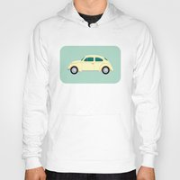 vw Hoodies featuring VW Beetle by Hand Drawn Creative