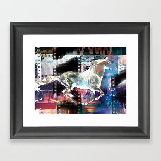 horse 02 Framed Art Print