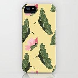 Lotos  botanical mix pattern iPhone Case