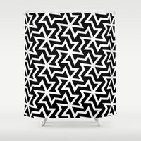 arabic Shower Curtains featuring Arabic by Patterns and Textures