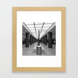 Tube Station Brandenburg Gate in Berlin Framed Art Print