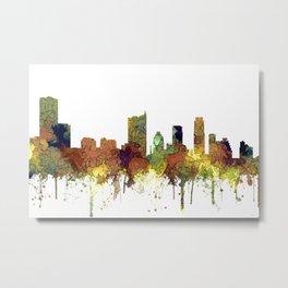 Austin, Texas Skyline - SG - Safari Buff Metal Print