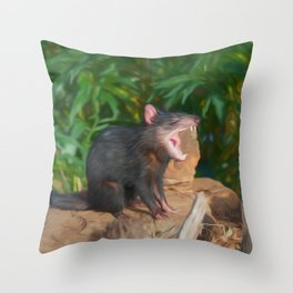 Funny Devil (digital painting) Throw Pillow