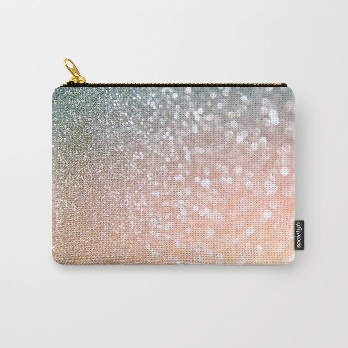 Rosequartz Rose Gold glitter - Pink Luxury glitter sparkling design Carry-All Pouch