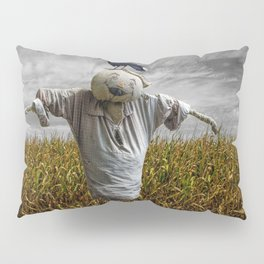 Scarecrow with Black Crows over a Cornfield Pillow Sham