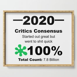 Humourous 2020 Review Rotten Tomatoes Score From World Population Serving Tray