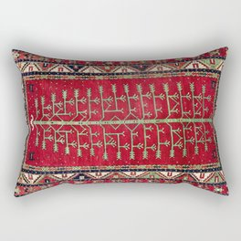 Kazak  Antique Caucasian Rug Print Rectangular Pillow