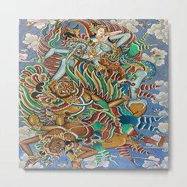 Batik Wayang Metal Print
