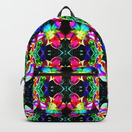 Colorful  Bright Seamless Flower Pattern Backpack