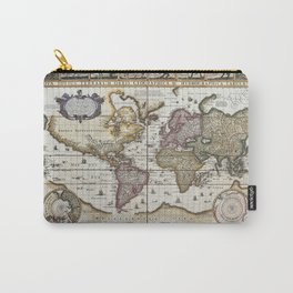 Old World map 1652 Carry-All Pouch