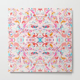 Sweet Candy Abstraction / Papercut Shapes Symmetry Metal Print