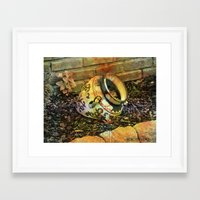 cracked Framed Art Prints featuring Cracked by BeachStudio