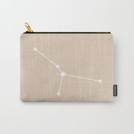 Cancer Zodiac Constellation - Warm Neutral Carry-All Pouch