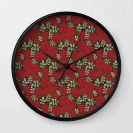 Velvety roses Wall Clock