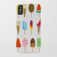 ice cream iPhone & iPod Cases featuring Ice Cream by Céline Dscps