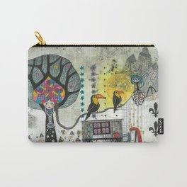 """Marusja""  Illustrated print Carry-All Pouch"