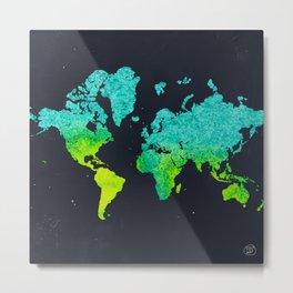 mapamundi blue Metal Print