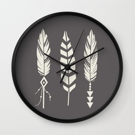 Gypsy Feathers Wall Clock