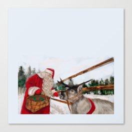 Christmas, Navidad, Noel, Moose Canvas Print