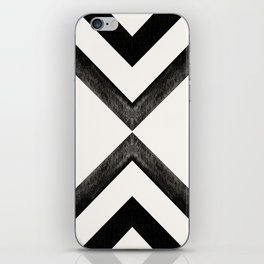 Converging Triangles Black and White Moroccan Tile Pattern iPhone Skin
