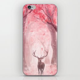 Ciervo rojo iPhone Skin