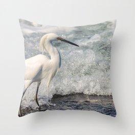Walk on Wave Throw Pillow