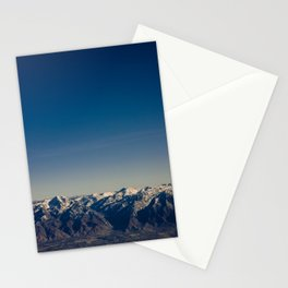 Blue Skies Mountains Stationery Cards