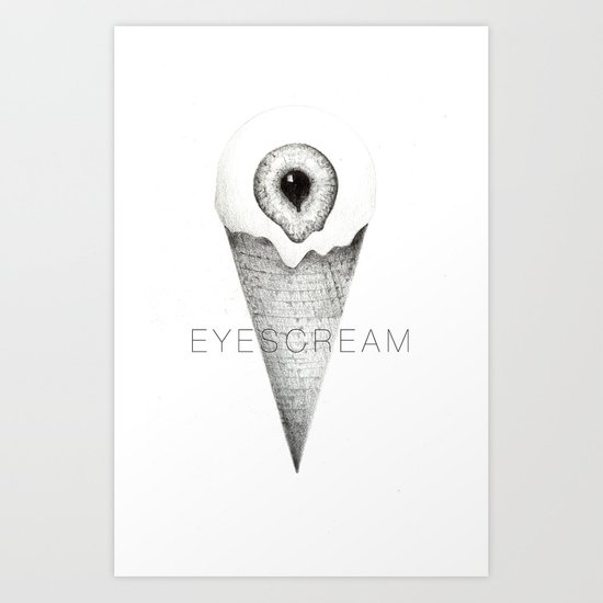 eyescream Art Print