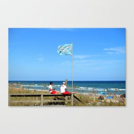 Overseers At The Beach Canvas Print