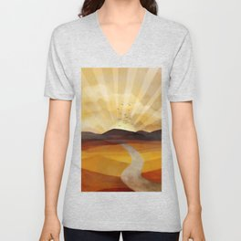 Desert in the Golden Sun Glow II Unisex V-Neck