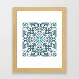 European tiles Framed Art Print