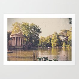 An Idyllic Afternoon In Rome Art Print
