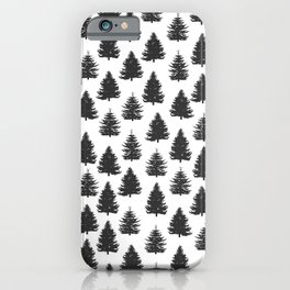 pine trees iPhone Case