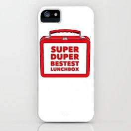 Super Duper Bestest Lunchbox iPhone Case
